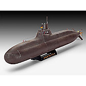 Revell German Submarine Class 212 A 1:144 Model Kit Ships - 05019