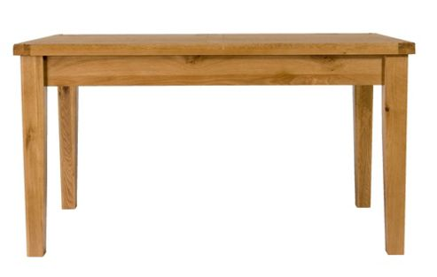 Elements Brunswick Dining 140cm Solid Oak Dining Table in Warm Lacquer