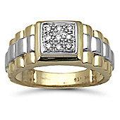 9 Carat Yellow Gold 15pts Diamond Ring