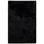 Husain International Plain Black Woven Rug - 180cm x 120cm (5 ft 11 in x 3 ft 11 in)