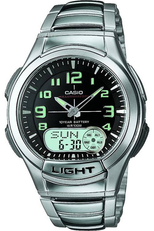 Casio Computer AQ180WD-1BVEF Analog Men's Watch Silver