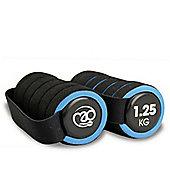 Fitness Mad Pro Handweight 2 x 1.25kg Blue