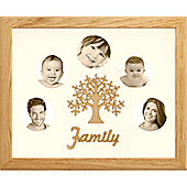 Large Family Photo Tree of Life Picture Frame Solid Oak 50x40cm (5)