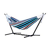 Vivere Double Hammock with Stand - Denim