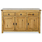 Kelburn Furniture Veneto Rustic Oak 3 Door Sideboard