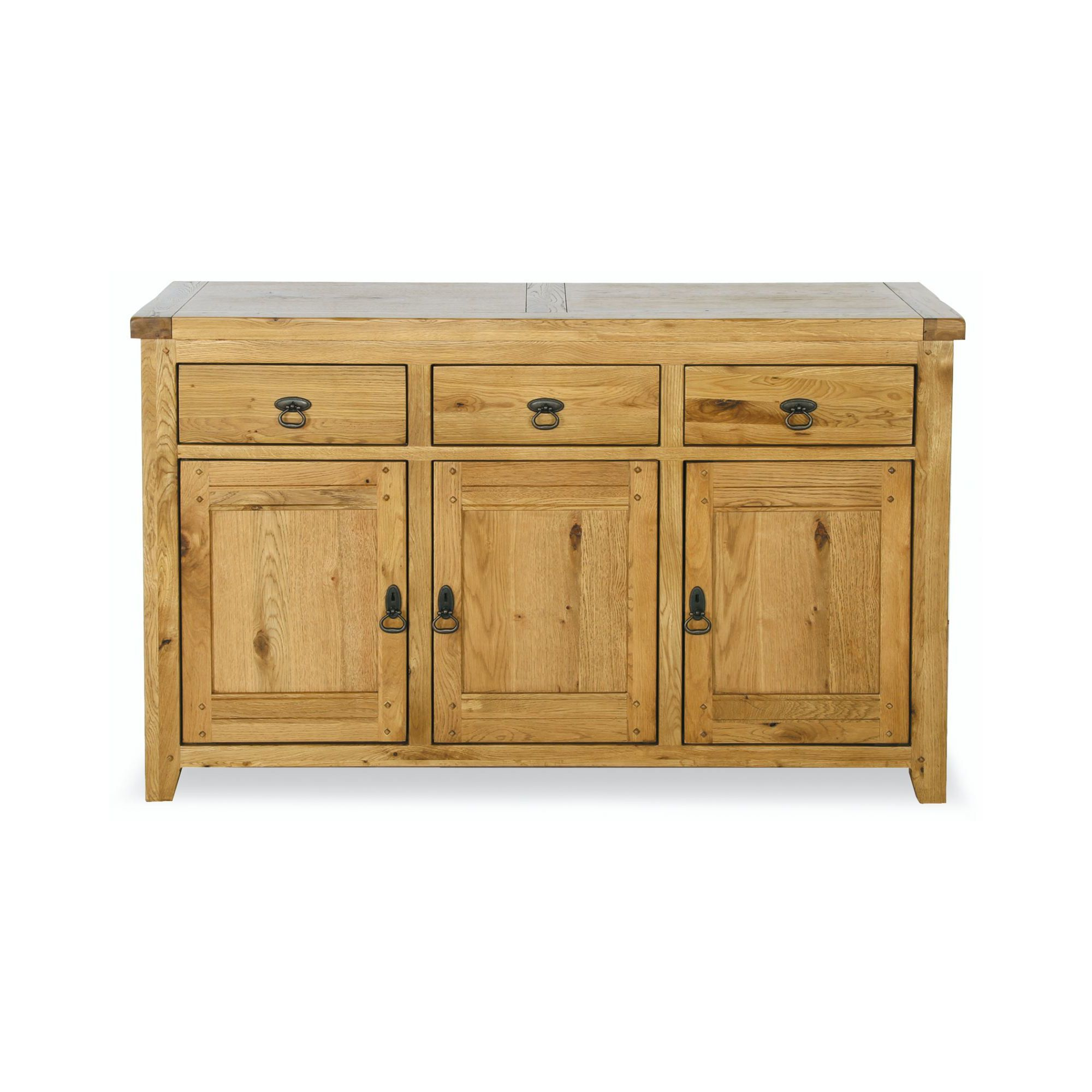 Kelburn Furniture Veneto Rustic Oak 3 Door Sideboard at Tesco Direct