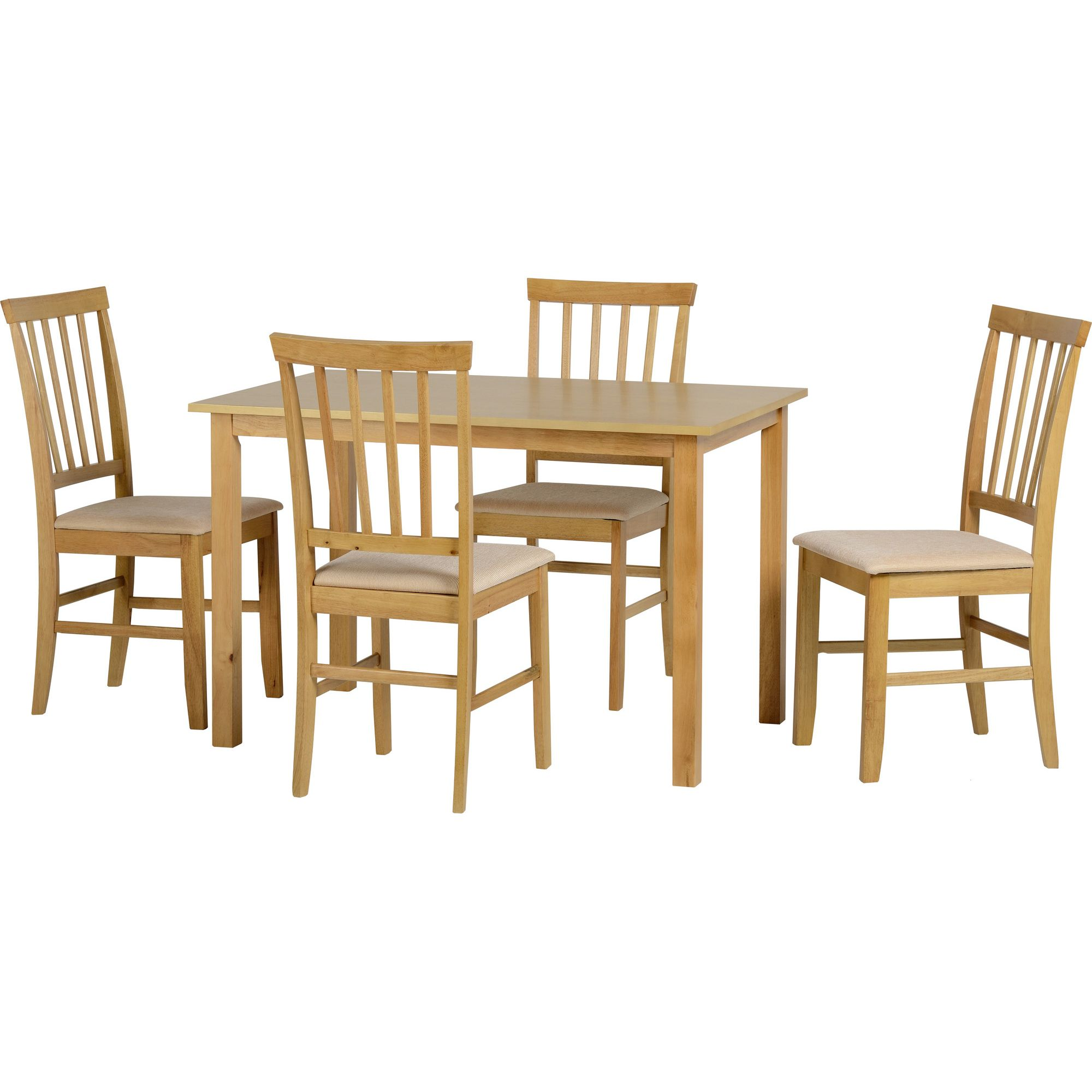 Home Essence Selina 5 Piece Dining Set - with 4 chairs at Tesco Direct