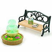 Sylvanian Families Ornate Garden Bench and Fountain