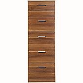 5 Flip Door Shoe Storage Cabinet - Walnut