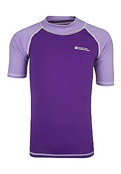 Mountain Warehouse Short Sleeved Kids Rash Vest ( Size: 7-8 yrs )