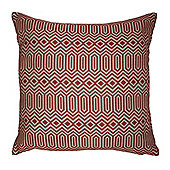 McAlister Smooth Touch Cushion Orange Geometric Design