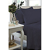 Catherine Lansfield Non Iron Percale Combed Poly-Cotton Fitted Sheets in Navy - Single