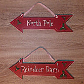 Santa's Grotto and Elf Workshop Christmas Signs