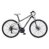 "16"" Coyote Causeway Mens' Alloy Front Suspension Disc 29er, 24-Speed, White/Black"