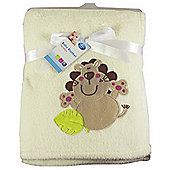 First Steps Supersoft Fleece Baby Blanket Cream Lion 75x100cm