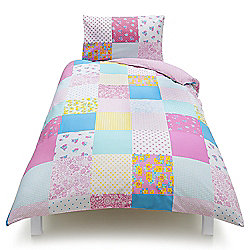 Tesco Kids Bright Patch Single Duvet Set