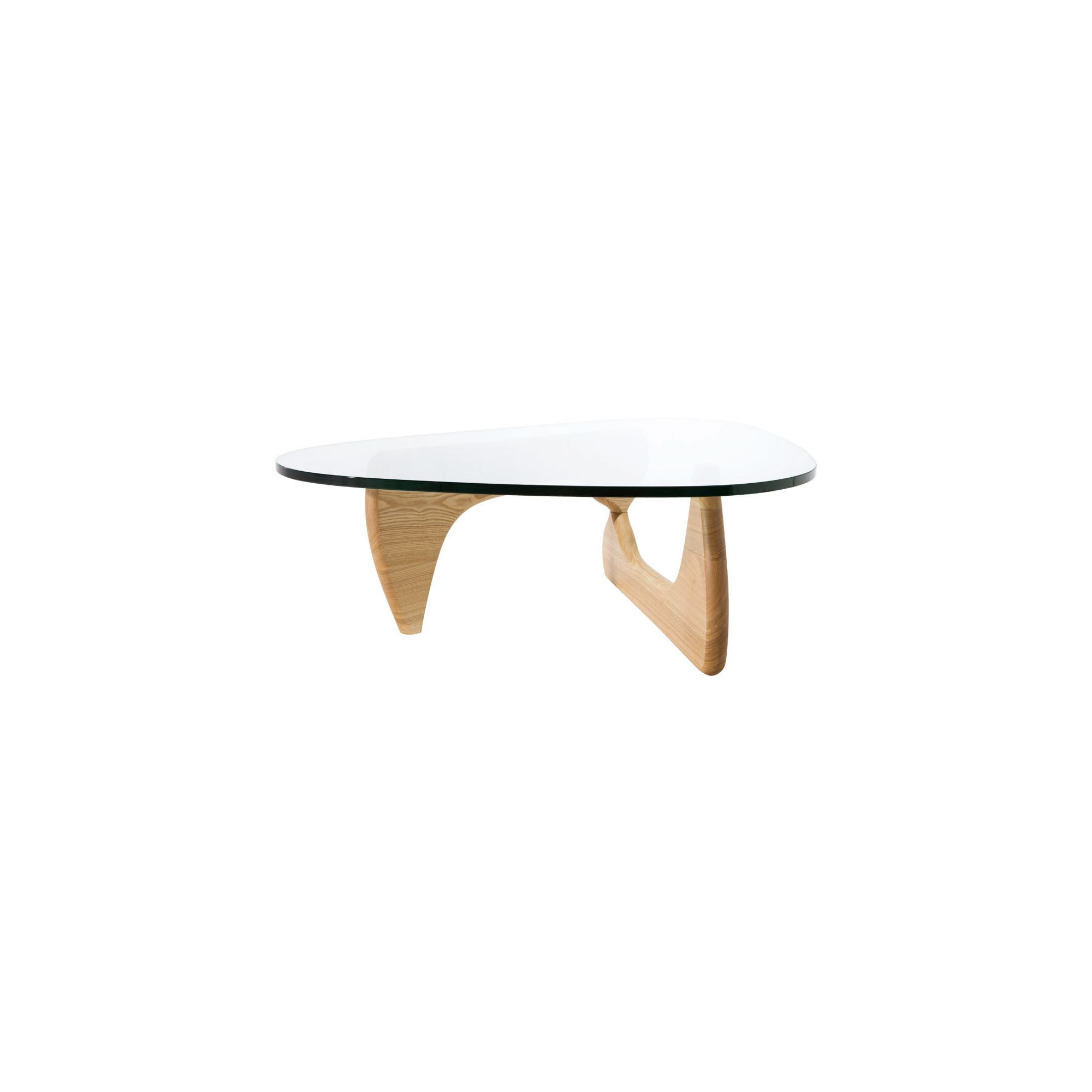 CC Furnishing Tempered Glass Coffee Table - Nature at Tesco Direct