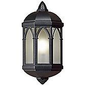 Endon Lighting Flush Wall Lantern in Black