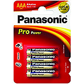 Panasonic Pro Power Premium Alkaline AAA Batteries 4 Pack