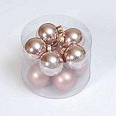57mm x 10 Pale Pink Glass Ball Matt & Shiny Finish