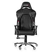 AK Racing Premium Gaming Chair Carbon V2 Black Perfect for office workers and gamers PU Leather AK-7002-CB