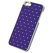 Tortoise™ Hard Case iPhone 5 Diamante Quilt Purple