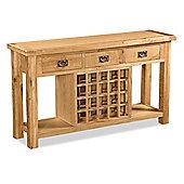 Zelah Oak Open Sideboard - Rustic Oak