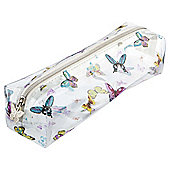 Tesco Clear Butterfly Pencil Case