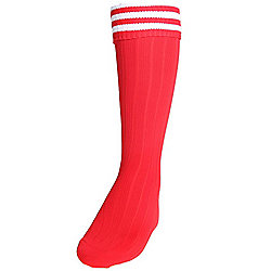 Precision Training 3 Stripe Football Socks Mens Red/White