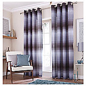 Catherine Lansfield Home Graded Stripe Charcoal Curtains 66x72