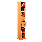 CD DVD Blu-ray Media Storage Shelves Tower - Antique Pine
