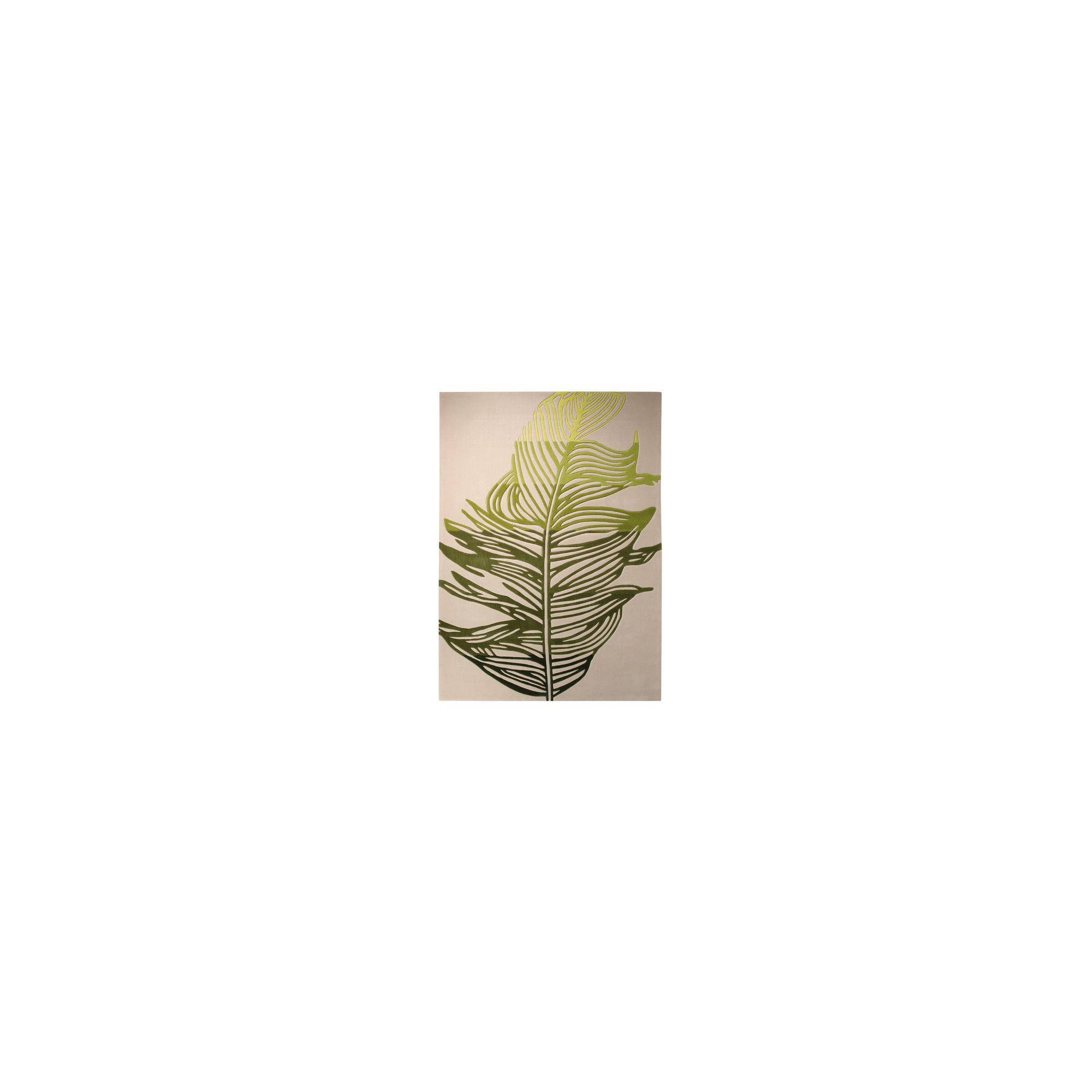 Esprit Feather Beige / Green Novelty Rug - 90cm x 160cm