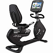 Life Fitness Platinum Club Discover SE Recumbent Lifecycle WiFi - Arctic Silver