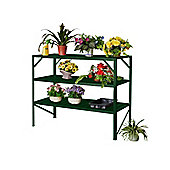 Nison Three-tier Aluminium Staging Unit, Green