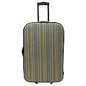Tesco 2-Wheel Small Striped Suitcase