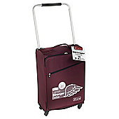 Z Frame 4-Wheel Super-Lightweight Suitcase, Aubergine Medium