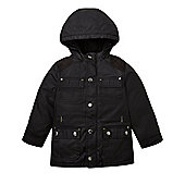 Mothercare Boy's Black Waxed Jacket Size 18-24 months