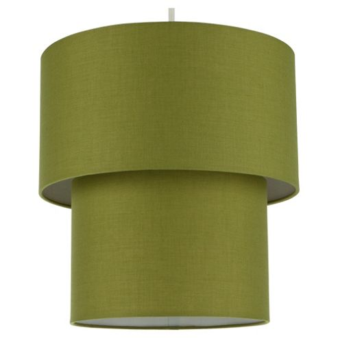 Tesco Lighting Double Drum Shade, Olive