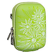 Rivacase Riva 7023 PU Digital Camera Case, Green/Flowers
