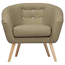 Jemima Tub Chair Olive/Grey Button