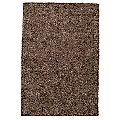 Husain International Plain Brown Woven Rug - 150cm x 90cm (4 ft 11 in x 2 ft 11.5 in)
