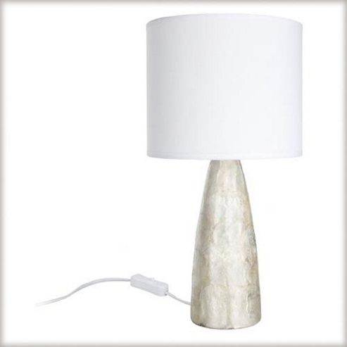 Paulmann Conical Capiz Table Lamp in Mother of Pearl