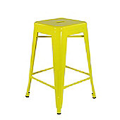 Xavier Pauchard Low Yellow Tolix Style Stool