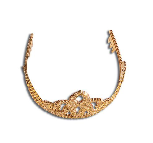 Tiara - Gold Plastic