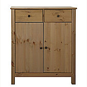 Solid - Wood Sideboard 2 Drawer Cabinet - Light Brown