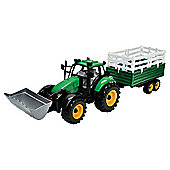 Farm X Friction Tractor With Trailer