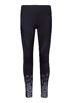 Mountain Warehouse Hurricane Printed Womens Compression Tights - Black