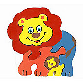 Traditional Wood 'n' Fun Animal Puzzles - Ackerman Toys Lion 12m+