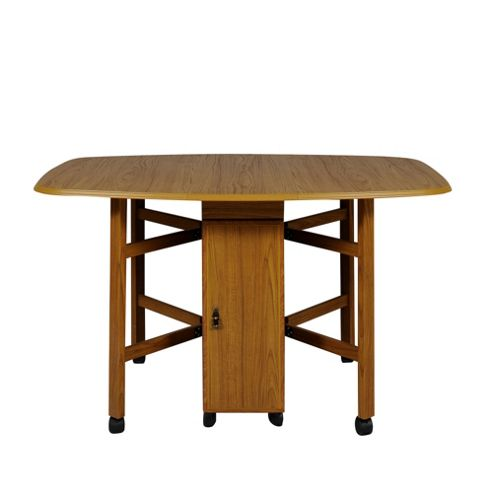 Caxton Tennyson Spacesaver Gateleg Table in Teak - 32-132cm