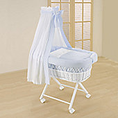 Leipold Kids Wicker Drape Crib - Blue